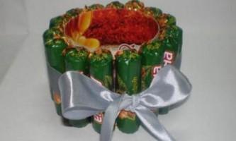 Що можна зробити в подарунок до нового року для дітей з цукерок