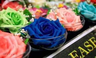 Квіти з туалетного мила