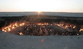 Дарвазе (the darvaza well) - газовий кратер в туркменістані