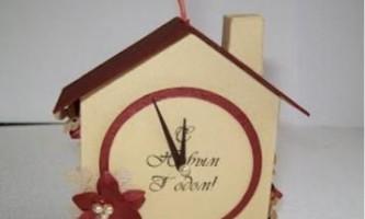 Робимо самі новорічний будиночок на ялинку з картону