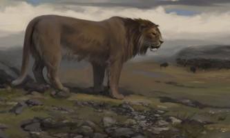 Стародавні тварини. Печерний лев