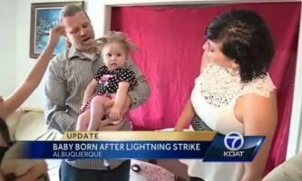 Неймовірна історія: жінка народила дитину після удару блискавки