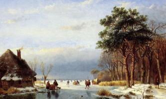 Голландські пейзажі художника andreas schelfhout