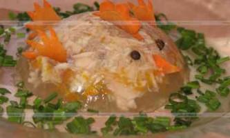 Холодець з курячих грудок: рецепт з фото.