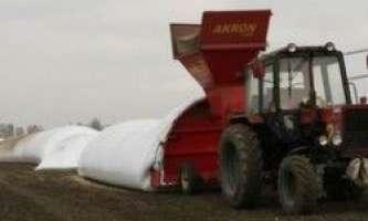 Зберігання зерна в рукавах