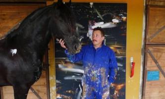 Художні шедеври коня виставлені в галереї мистецтв