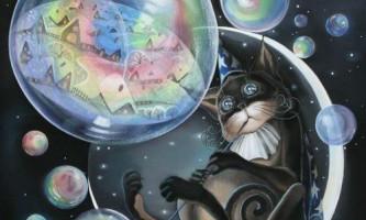 Іграшки для кішок: мильні бульбашки
