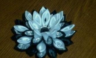 Виготовлення квітів з атласних стрічок своїми руками