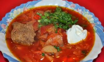 Червоний борщ з яловичиною: рецепт з фото