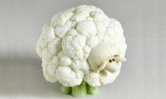 Як зробити овечку з цвітної капусти