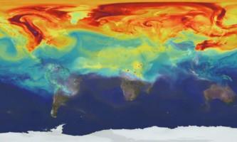 Як вуглекислий газ поширюється в атмосфері землі