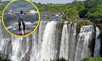 Канатоходець пройшов крізь веселку над бразильським водоспадом