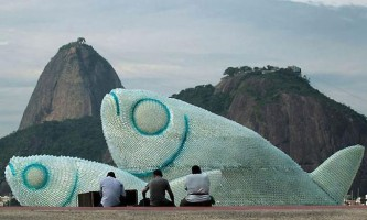 Незвичайний арт-проект розташований на пляжі в ріо-де-жанейро
