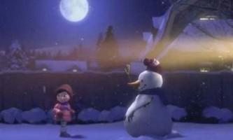Новорічний ролик про дружбу дівчинки зі сніговиком