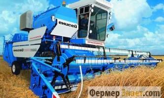 Огляд характеристик зернозбиральних комбайнів єнісей серії 1200
