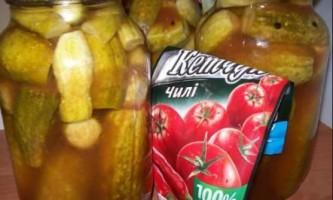 Огірки з кетчупом чилі торчин супер рецепт