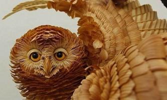 Реалістичні скульптури диких тварин з сибірського кедра