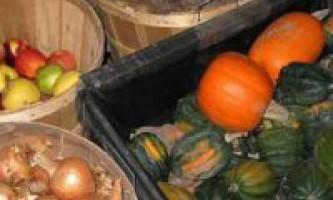 Режими зберігання плодів і овочів