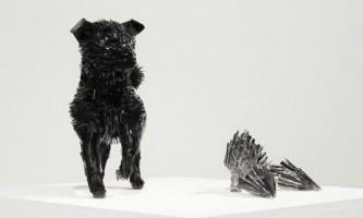 Скульптури зі скляних осколків від марти клоновской