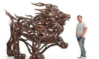 Скульптури тварин з металу скульптора вересня хун кан