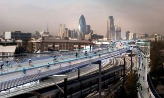 Skycycle - архітектурна ідея велоестакади в лондоні