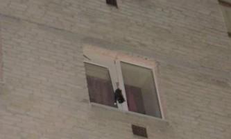 Тюменський рятувальники врятували кота, який застряг у вікні