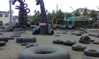 """Токійський """"шинний"""" парк nishi-rokugo - страшний сон екологів"""
