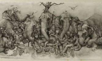 Триптих слони художниці адоная каре