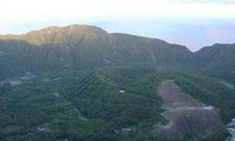 Вулканічний острів аоґасіма, японія