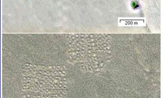 Загадкові земляні квадрати виявлені в китайській пустелі