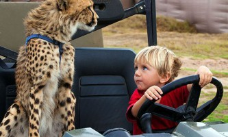 Чудова дружба дітей і гепарда