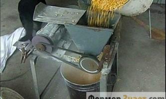 Зернодробилка, зроблена з болгарки або пральної машини: це міф чи реальність