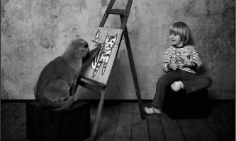 Знайомство кошеня з сім`єю